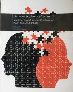 Discover Psychology Vol 1, Mac Intro Psych Text Fall 2016