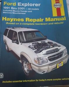 Ford Explorer repair manual.