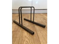 Polyboard Stands x 3 - Steel - custom made - Dalston Lane