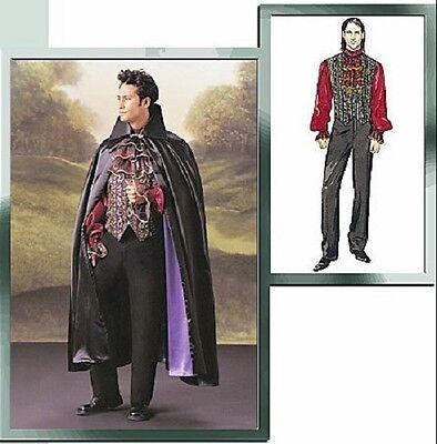 VAMPIRE CAPE VEST SHIRT JABOT HALLOWEEN COSTUMES SEWING PATTERN Mens' - Mens Jabot Shirt