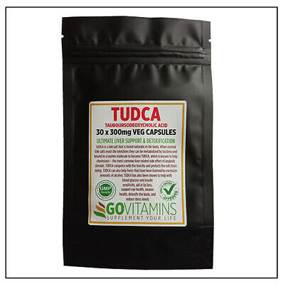 Best Selling (BEST SELLING TUDCA 300mg VEG CAPSULES or PURE POWDER - Tauroursodeoxycholic)