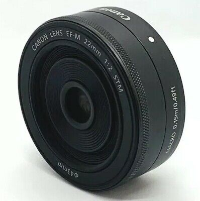 Canon EF-M 22mm f/2 STM Lens For Eos M M2 M3 M6 M10 M100 Digital Camera