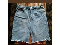Asos ladies denim shorts size 14 uk