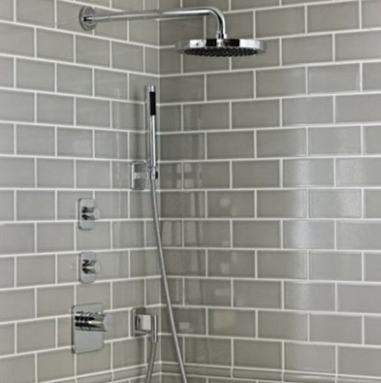 devonshire metro flat smoke grey gloss kitchen bathroom wall tiles
