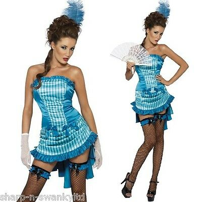 Show Girl Outfits (Ladies Sexy Turquoise Burlesque Show Girl Hen Do Fancy Dress Costume)