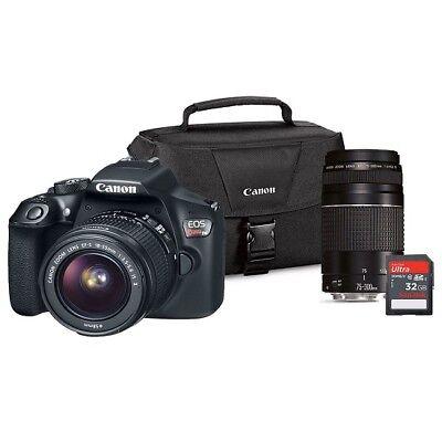 Canon EOS Rebel T6 DSLR Camera Lens Bundle 20855