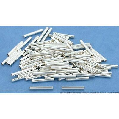 - 100 Sterling Silver Tube Beads Jewelry Beading Part 8mm