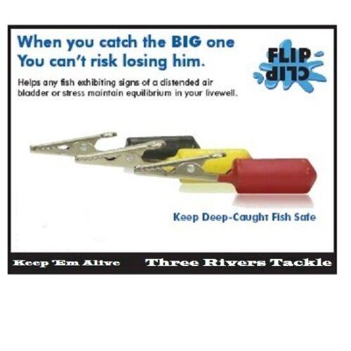 Flip Clip Fishing Stabilizing Fish Fin Weights, Safe Release, NoFiz Air Bladder