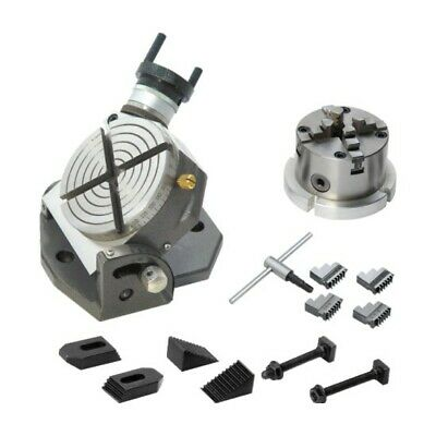 New Tilting Rotary Table 4100 Mm Kit 4jaw Chuck With Back Plate Clamping Set
