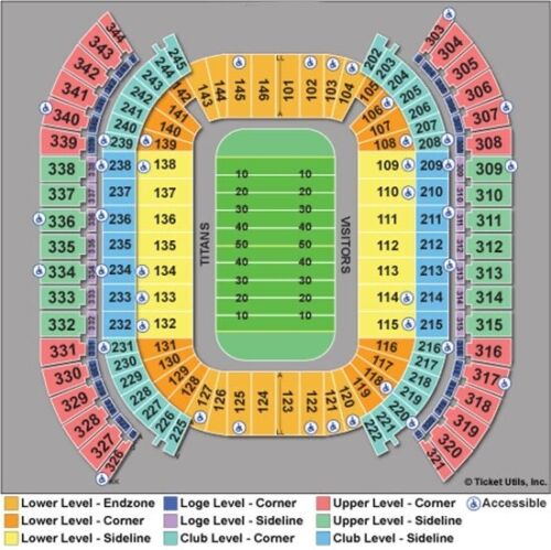 Tennessee Titans Vs Kansas City Chiefs 10/24 - 3 TIX, SECTION 112, ROW K, AISLE - $1,560.00