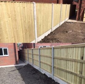💦New Flat Top Feather Edge Fence Panels • Excellent Quality • Wooden • Pressure Treated