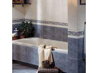 Blue ceramic tiles by Grespania - Bretagne Celeste Gloss
