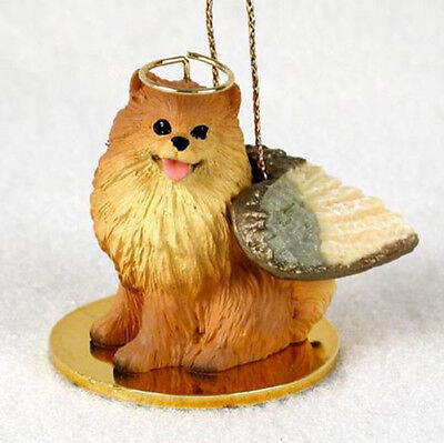 POMERANIAN (RED) ANGEL DOG CHRISTMAS ORNAMENT HOLIDAY Figurine Memorial gift