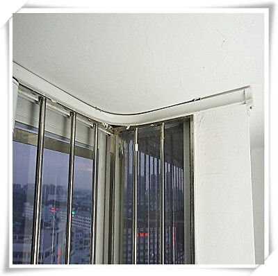 5 Meters Bendable Straight Curved Curtain Track Top Side Ceiling Mounting Cut ()