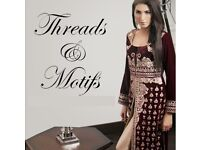 Threads and motives heavy embroidered fancy wedding Eid unstitched master original copy wow deal