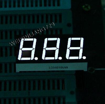 5pcs 0.56 Inch 3 Digit Led Display 7 Seg Segment Common Cathode White 0.56