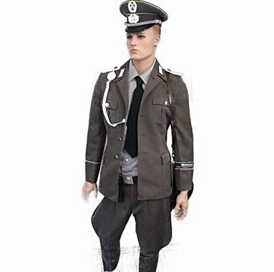 NVA Uniform ähnl. Wehrmacht Schirmmütze Fasching Karneval Ostalgie Halloween DDR