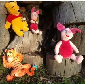 Set of Larger sized Pooh Bear series soft toys. South Yunderup Mandurah Area Preview