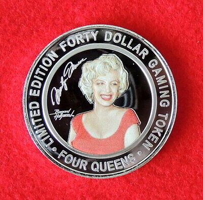 Monroe Four - 2019 Marilyn Monroe Four Queen Gold Cap $40 Silver Strike Token 1 oz .999 Silver