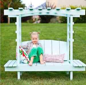 Kids outdoor gazebo with 2 side tables.