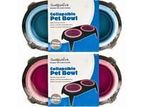 Double collapsible pet bowl