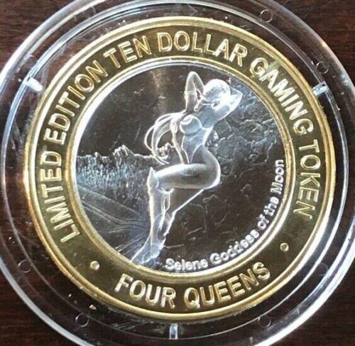 Four Queens Casino $10 Silver Strike Token 2018 Selene Goddess of the Moon