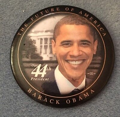 """Barack Obama For President 3"""" Campaign Pin  Button"""