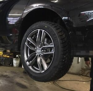Tires and wheels (215/55R17)