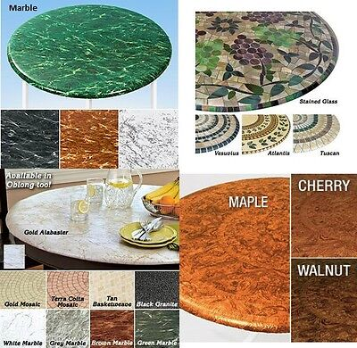Elasticized Tablecloths Table Cover Marble Wood Stained Glass Fitted Cover NEW - Fitted Table Covers
