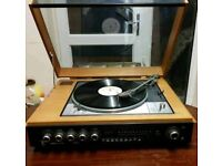Lenco turntable direct drive 4 speed GOODMANS - MODULE 80 Amp and radio all in one.
