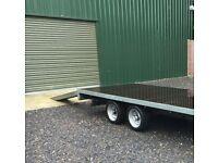 indespension flatbed trailer barely used car transporter 12ft x 6.5ft