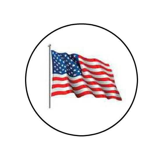 """Personalized USA Flag 1"""" Round Envelope Seals Custom Labels"""