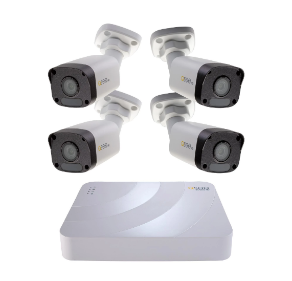 New Q-see K82K4.4 1080p IP 2TB Security System 4x Color Nigh