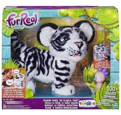 Ivory White Furreal Roarin Tyler The Playful Tiger Pet   Fur Real Roaring Cat