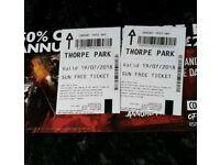 X2 Thorpe park tickets (19th July)