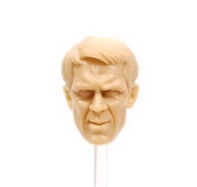 H02 - Mezco Custom STEVE McQUEEN 1/12 Unpainted Head Sculpt - Head Only (Steve Head)