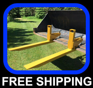 clamp to bucket PALLET FORKS, 2000lb capacity, FREE SHIPPING !!!