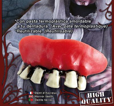 Rotten Halloween Teeth (FANCY DRESS Zombie Teeth Halloween Accessory Rotten Redneck Hillbilly)