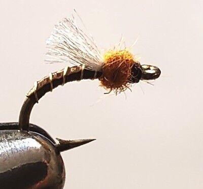 Money Midge-G.C Chocolate #20-Fly Fishing Flies-Trout-Wet