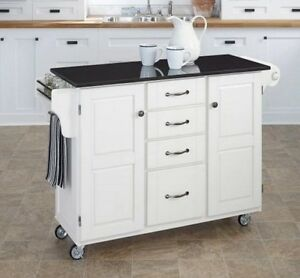 rolling kitchen cabinet wood top pointe claire
