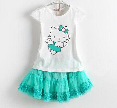 Sommerset Rock Shirt Mädchenkleid Tutu Hello Kitty Top Bluse festlich Gr 104-128
