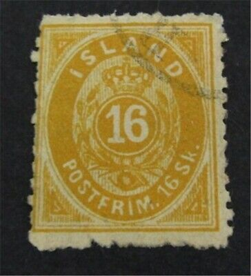 nystamps Iceland Stamp # 7? Used $855 Forgery? As Is   L23y390