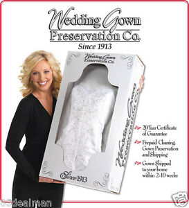 wedding dress preservation kit bridal wedding gown cleaning preservation box service kit 9241