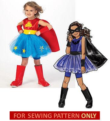 SEWING PATTERN MAKE WONDER GIRL~BATGIRL COSTUME~SUPERHERO WONDER WOMAN~HALLOWEEN