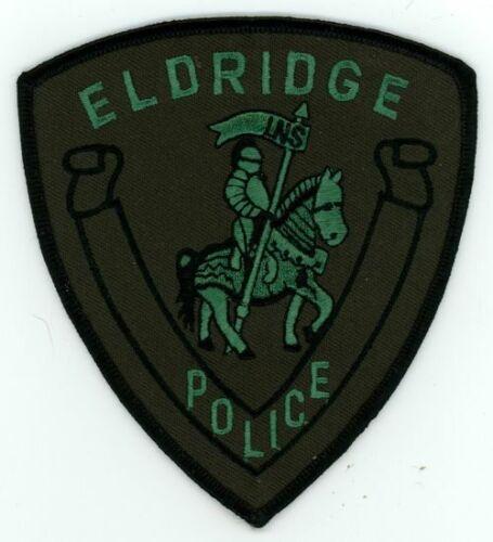 IOWA IA ELDRIGDE POLICE SUBDUED SWAT STYLE NEW PATCH SHERIFF