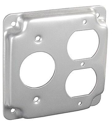4 Square Electrical Box Cover W Standard Single Duplex Outlet Receptacle