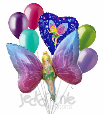 7 pc Fancy Fairy Balloon Bouquet Party Decoration Birthday Tinkerbell Inspired](Fancy Balloons)