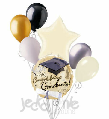 7 pc Fancy Grad Sparkles Balloon Bouquet Party Decoration Graduation Congrats](Fancy Balloons)
