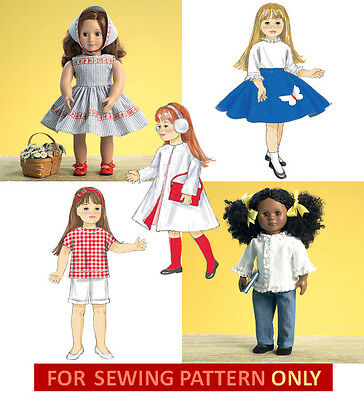 SEWING PATTERN! MAKE VINTAGE 50'S DOLL CLOTHES! FIT AMERICAN GIRL MARYELLEN!](50s Girls Clothes)