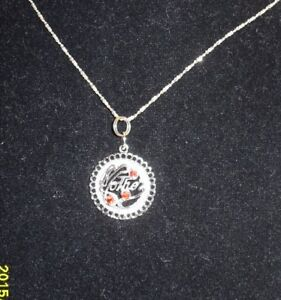 "Vintage Silver (925)  Charm/Pendant - Mother with 16"" chain"